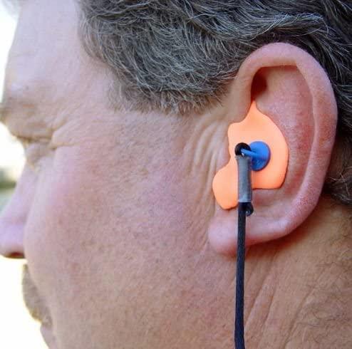 radians custom molded earplugs orange