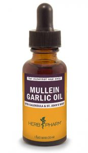 Herb Pharm Mullein Garlic Herbal Oil, Best Ear Drops for Pain