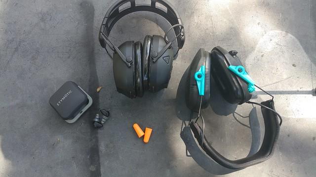 shooting earmuffs and plugs