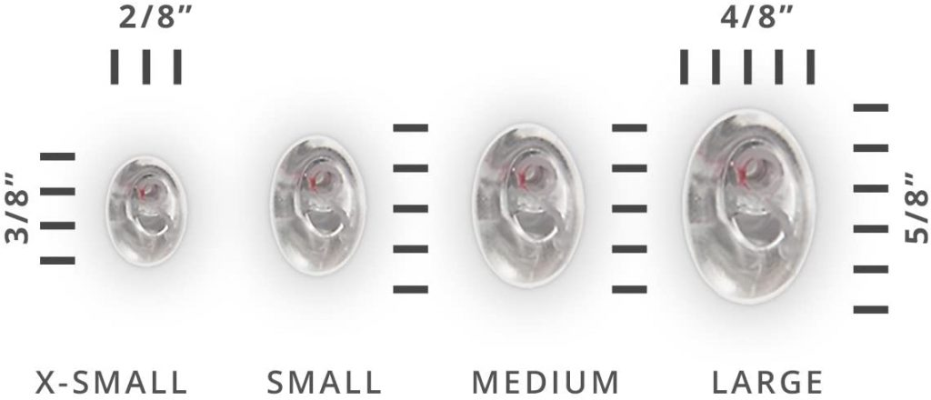 earasers musicians ear plugs sizes