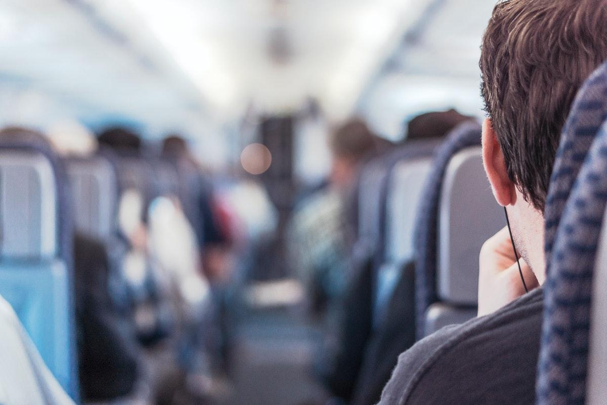 man in plane