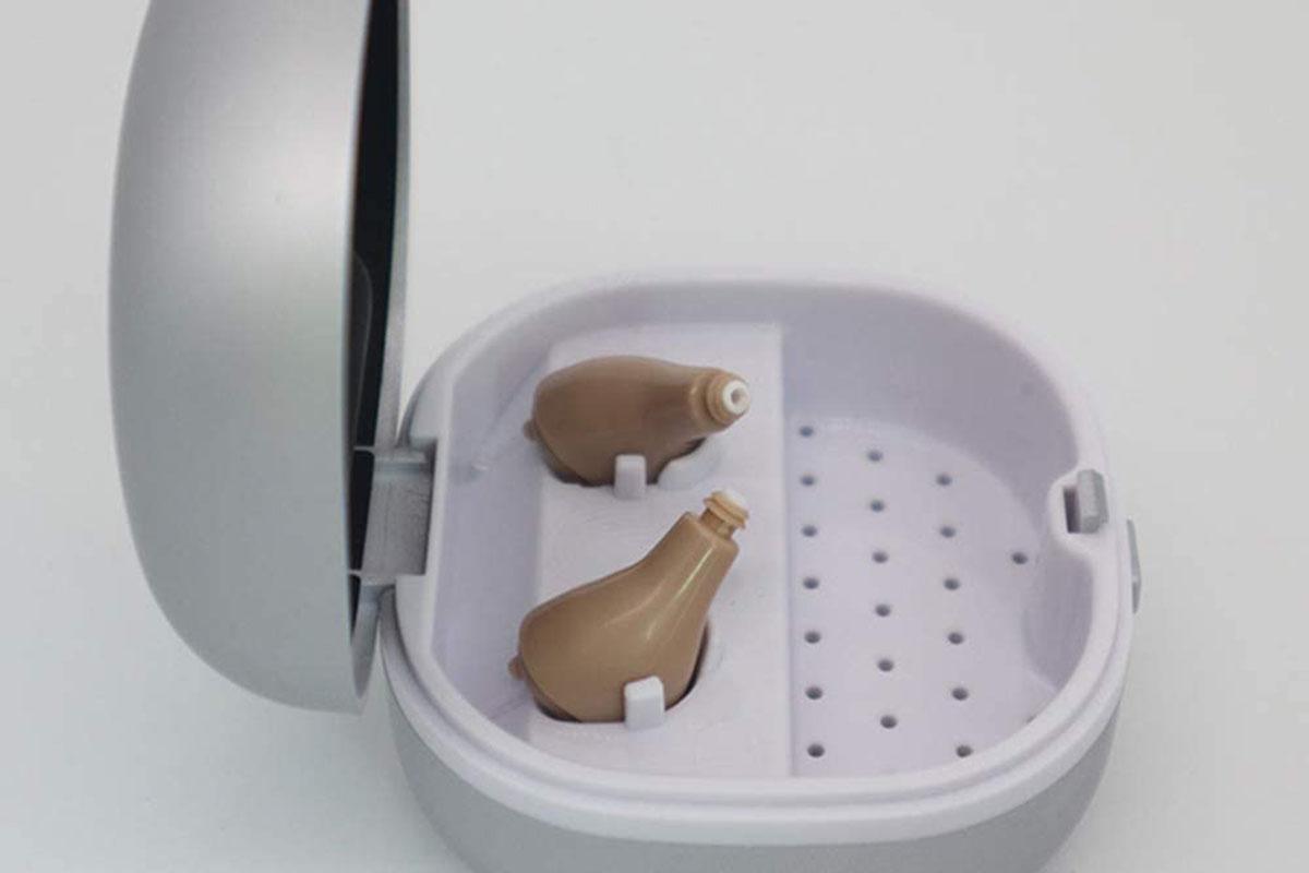 hearing aid on desk