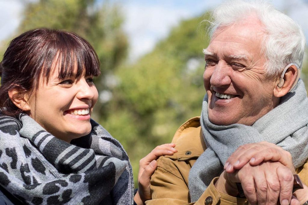 hearing aid for retiree person