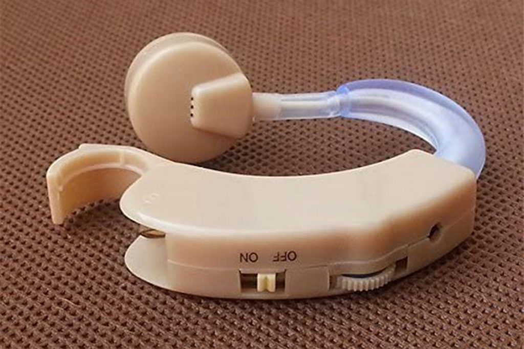 hearing aid from side